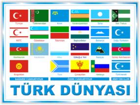Türk dünyası bayraqları